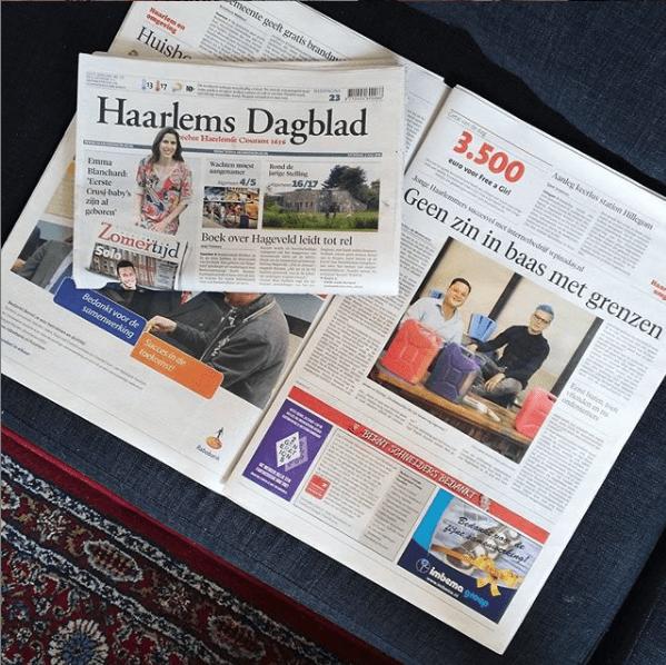 WPinaday in het Haarlems Dagblad
