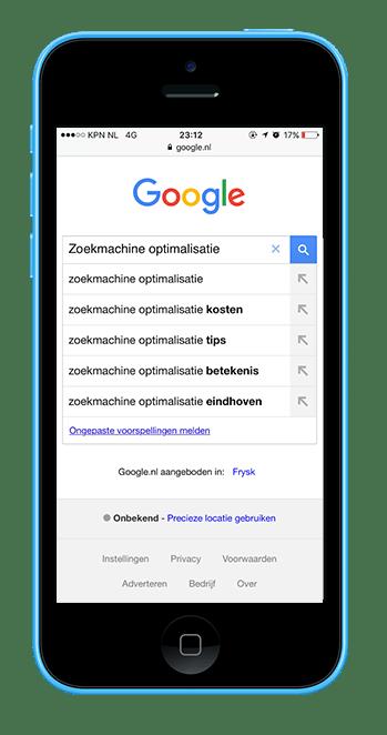Zoekmachine optimalisatie Google