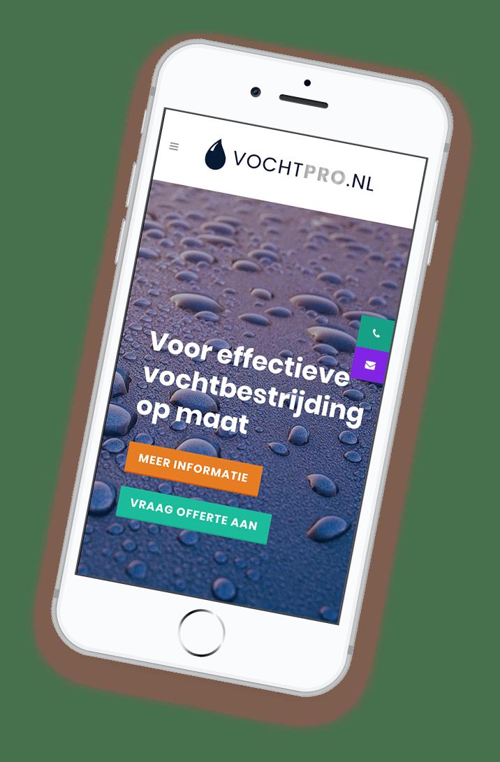 VochtPro op iPhone