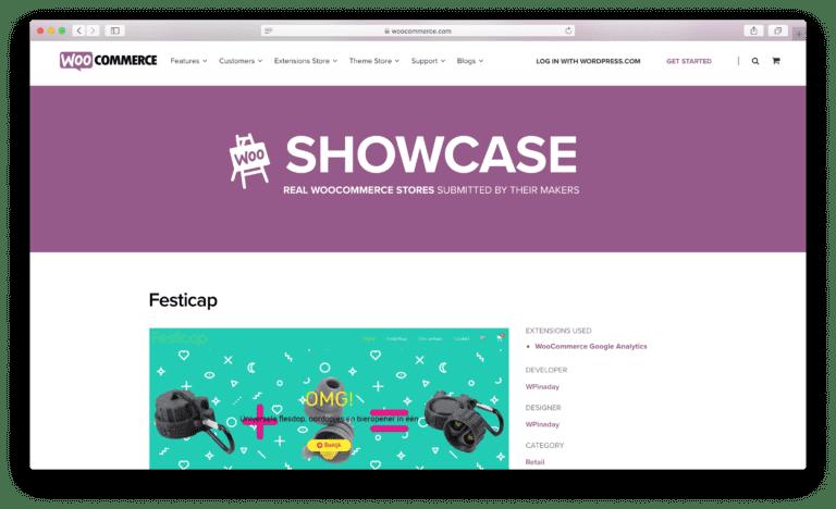 WooCommerce showcase Festicap